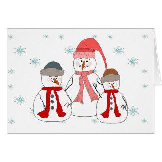Misses Snowman, Snowmen Children Whimsical Art Card