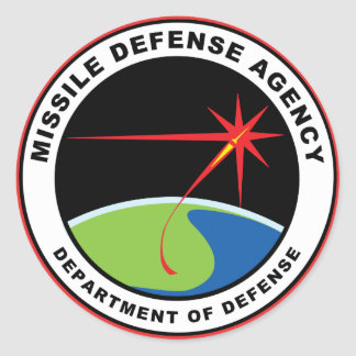 Missile Defence Agency Emblem (pack of 6/20) Classic Round Sticker