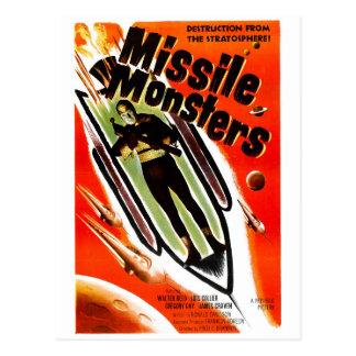 Missile Monsters Postcard