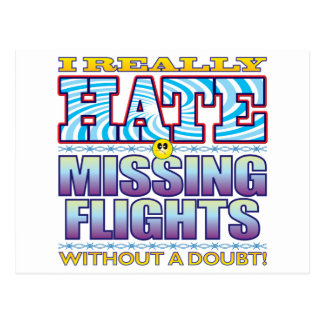 Missing Flights Hate Face Postcard