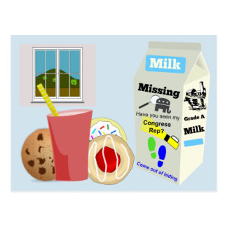 Missing GOP Rep Milk Carton Postcard