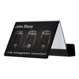 Missing Impossible Risk Management funny Desk Business Card Holder