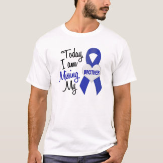 Missing My Brother 1 (Blue Ribbon) T-Shirt