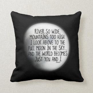 Missing My True Love Poem Throw Pillow