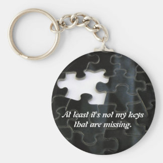 Missing Puzzle Piece Basic Round Button Key Ring