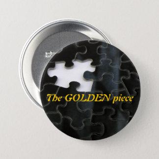 Missing Puzzle Piece Close-Up Photograph 7.5 Cm Round Badge