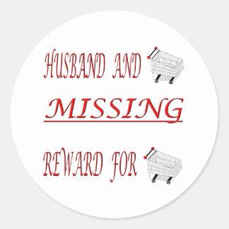 MISSING REWARD FOR ROUND STICKER