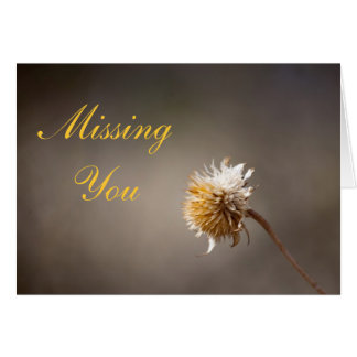 Missing You 4 Photo Template Greeting Card