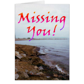 """Missing You!"" Blank/Customizable greeting card"