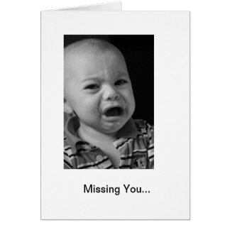 Missing You Note Card