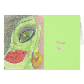 """Missing You"" Greeting Card"