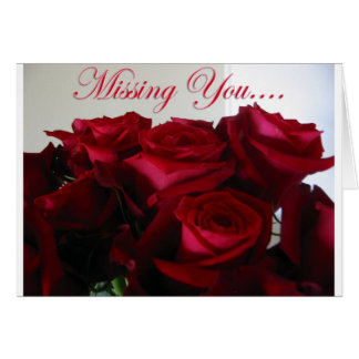 Missing You - card
