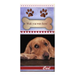 Missing you dog photo template customized photo card