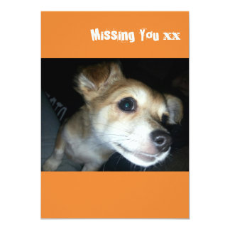 Missing you doggy card