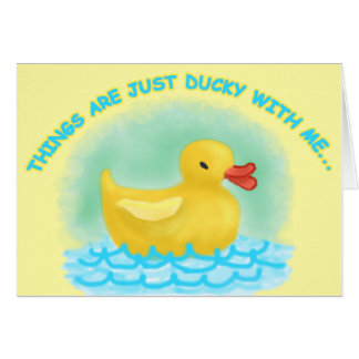 """""""MISSING YOU"""" DUCKY Card"""