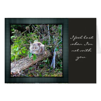 Missing You Expression Note Card