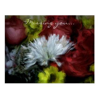 Missing You: Floral Postcard