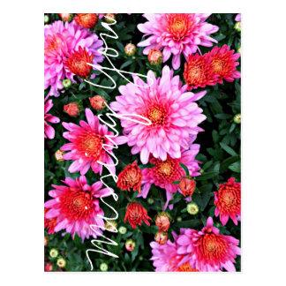 """""""Missing You"""" Floral Postcard"""