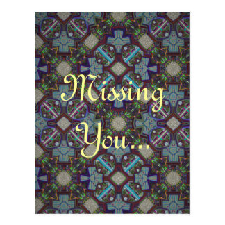 Missing You Greeting Card Postcard