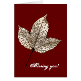 Missing you! - Greeting cards