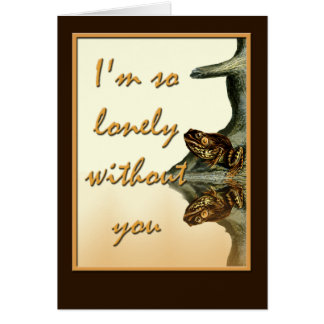 Missing You Lonely Frog Greeting Card