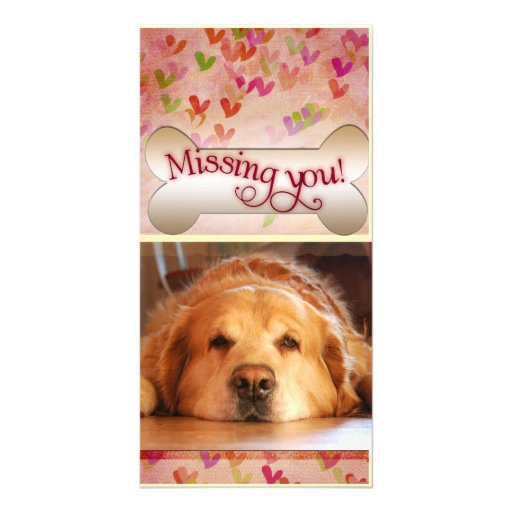 Missing you on Valentine's day photo template Personalized Photo Card