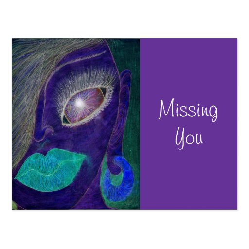 """Missing You"" Postcard"