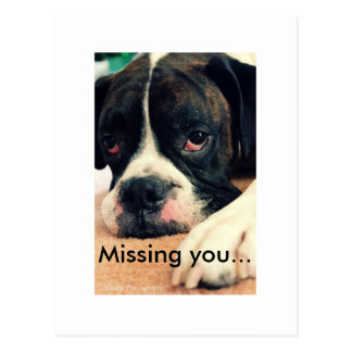 Missing you... postcard