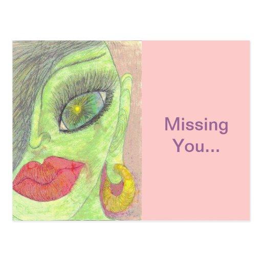 """Missing You"" Postcards"