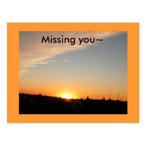 Missing you~ post cards