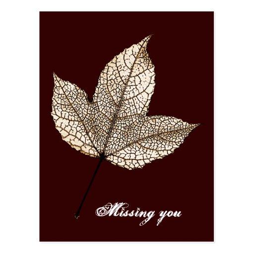 Missing you - postcards
