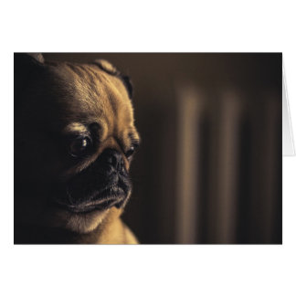 Missing You Pug Card