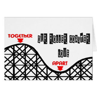 Missing You Roller Coaster Greeting Card