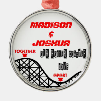 Missing You Roller Coaster Metal Ornament