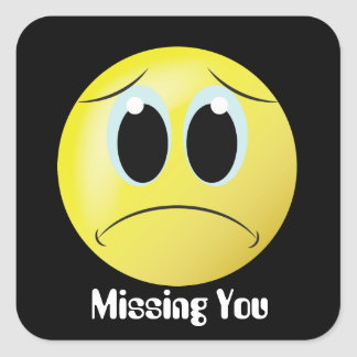 Missing you smiley face home sticker