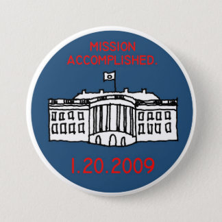 mission accomplished 7.5 cm round badge