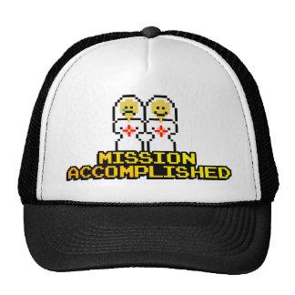 """Mission Accomplished"" Marriage (Lesbian, 8-bit) Cap"