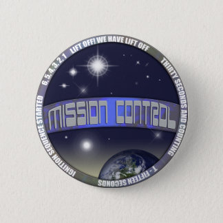 Mission Control 6 Cm Round Badge