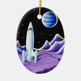 MISSION CONTROL CERAMIC OVAL DECORATION