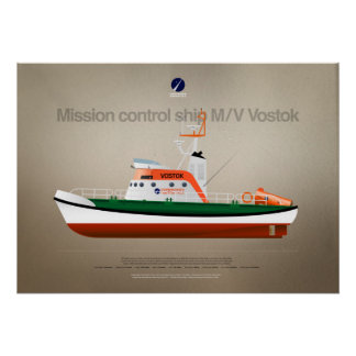Mission control ship M/V Vostok of CS Poster