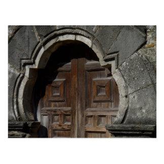Mission Espada Doorway Postcard