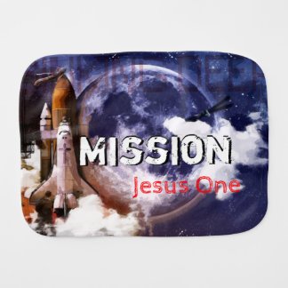 Mission Jesus One Burp Cloth