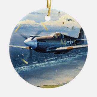 Mission Over Normandy by William S. Phillips Round Ceramic Decoration
