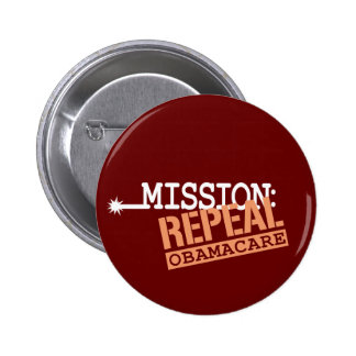 Mission: Repeal ObamaCare 6 Cm Round Badge