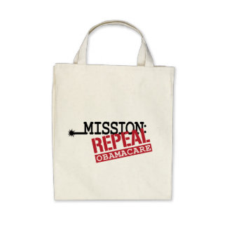 Mission: Repeal ObamaCare Canvas Bags