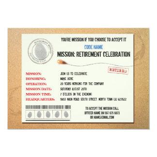 Mission  Retirement Party Secret Agent Invitation