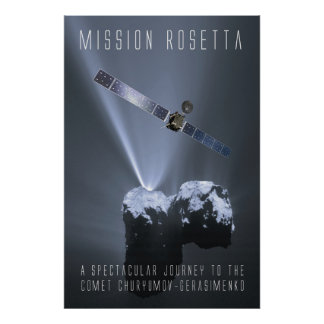 Mission Rosetta - tributes tons of A spectacular Poster