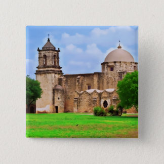 Mission San José Church 15 Cm Square Badge