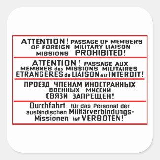 Mission Sign Memorabilia Square Sticker