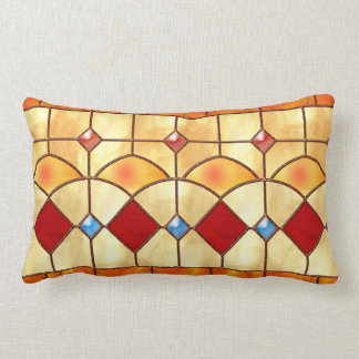 Mission style Tiffany faux stained glass pillow